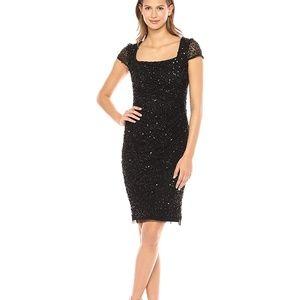 Adrianna Papell Black Sequin Plus Size Dress